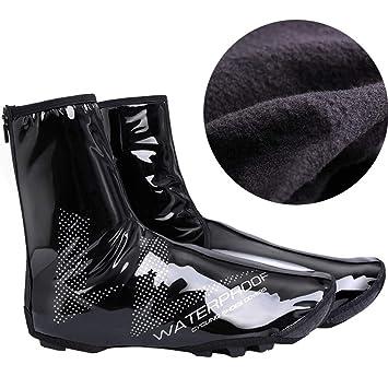 Cubre zapatillas de ciclismo Cubre zapatos para bicicleta, Cubiertas reflectantes impermeables para ciclismo, Cubrebotas a prueba de viento Cubrebotas ...