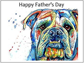 Carte Cadeau En Anglais.Carte Fete Des Peres Cadeau Bulldog Anglais English Bulldog