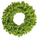 Vickerman K168637LED Wreath with 260 PVC Tips & 100 Dura-lit LED Italian Style lights on Wire, 36'', Flocked Lime