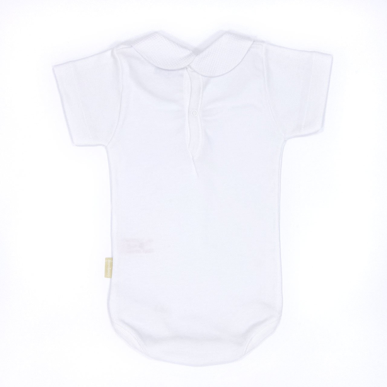 Cambrass Unisex Baby Short Sleeve Bodysuit with Collar