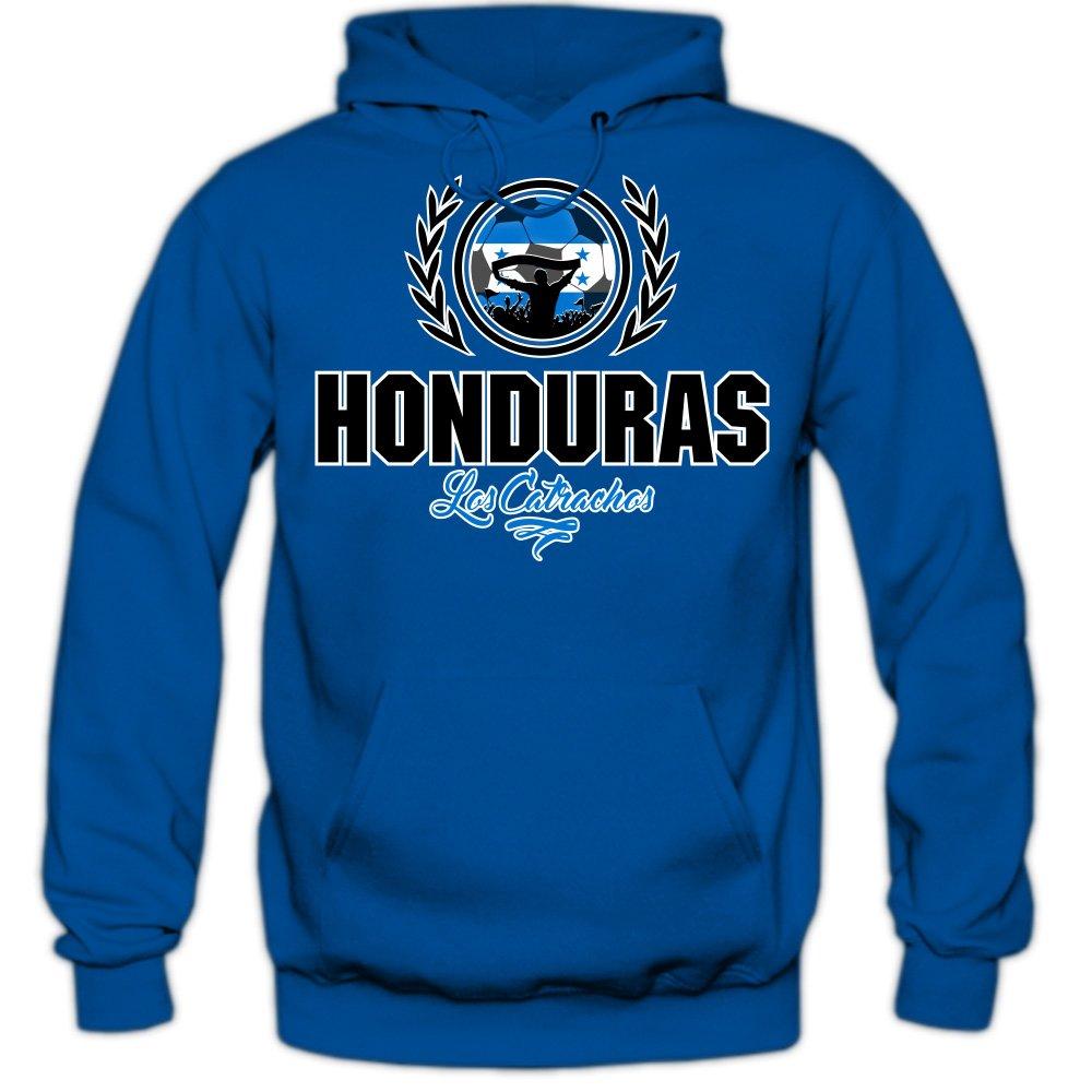 Shirt Happenz Fútbol Honduras V2 Sudadera con Capucha | Hombre | Fútbol | Equipo Nacional | Selección Nacional | Honduras | Los Catrachos | Hoody: ...