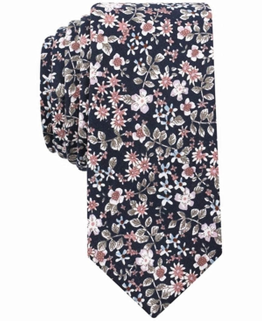 Bar III Mens Franconia Floral Print Work Wear Neck Tie