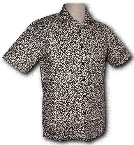 70er Jahre Kurzarm Hemd Leo creme, Chenaski