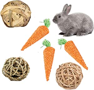 FEENGG Chinchilla Toys Guinea Pig Gerbil Rat Hamster Chew, 100% Natural Apple Wood Chinchillas Guinea Pigs Hamsters Pet Toys Accessories Suitable for Rabbits