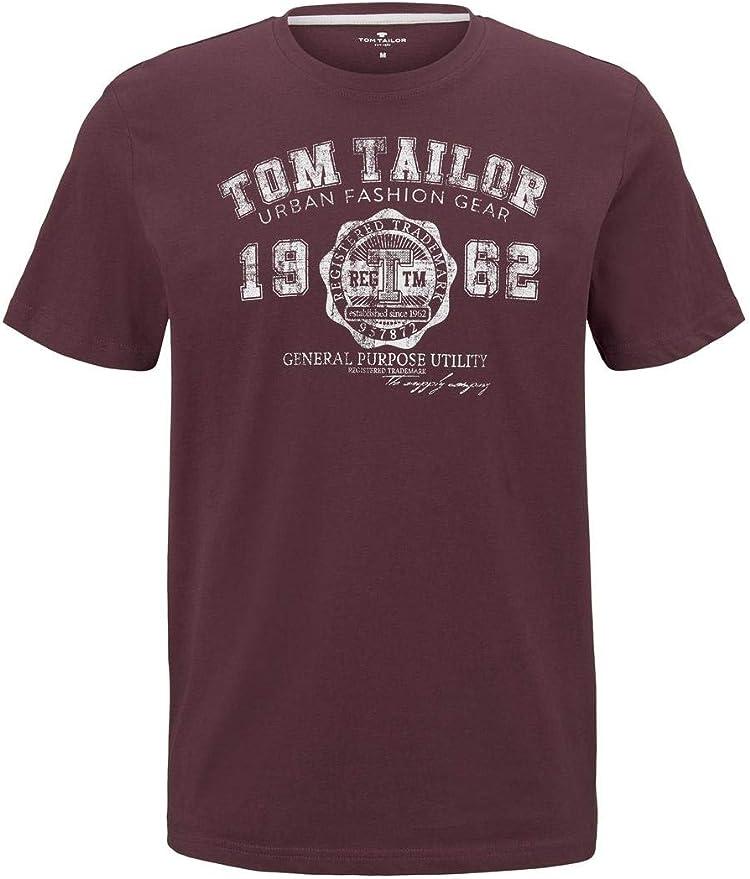 Tom Tailor Nos - Camiseta de manga larga con cuello redondo para hombre: Amazon.es: Ropa y accesorios