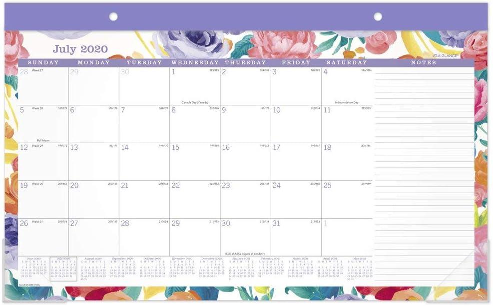 Academic Desk Calendar 2020-2021, AT-A-GLANCE Monthly Desk Pad Calendar, 17-3/4