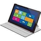 【2013年モデル】ELECOM Surface Pro/Surface Pro2対応 レザーカバー フラップ付3段階 ブラック TB-MSSFPWPLF2BK