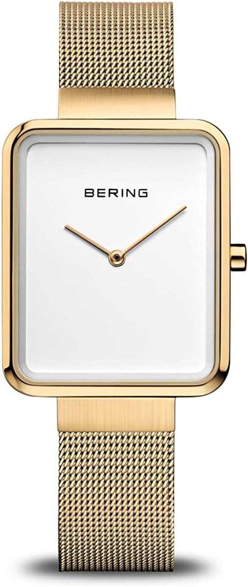 BERING Time | Women's Slim Watch 14528-334 | 28MM Case | Classic Collection | Stainless Steel Strap | Scratch-Resistant Sapphire Crystal | Minimalistic - Designed in Denmark