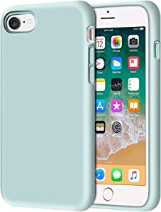 "Anuck iPhone SE 2020 Case, iPhone 8 Case, Non-slip Liquid Silicone Gel Rubber Bumper Case Soft Microfiber Lining Hard Shell Shockproof Full-body Protective Case Cover for iPhone 7/8/SE 4.7"" Mint Green"