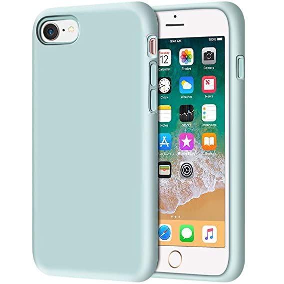 green silicone iphone 8 case