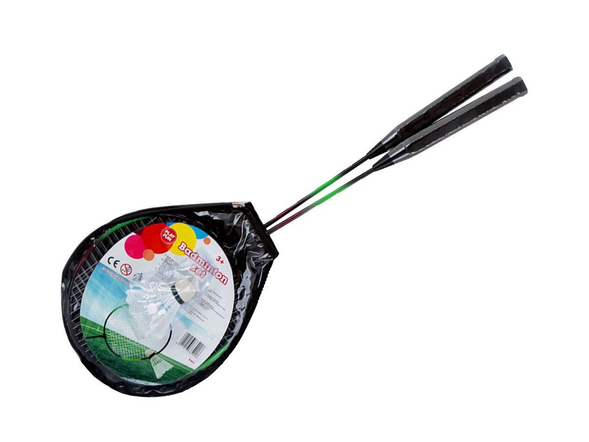 Alsino Badminton Federballschlä ger Federball Set Kinder - 2 Alu-Schlä ger + Federball 63 x 20 x 0.67 cm dreifarbig