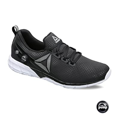 Reebok Men's Zpump Fusion 2.5 FL Black and White Running Shoes - 7 UK/India