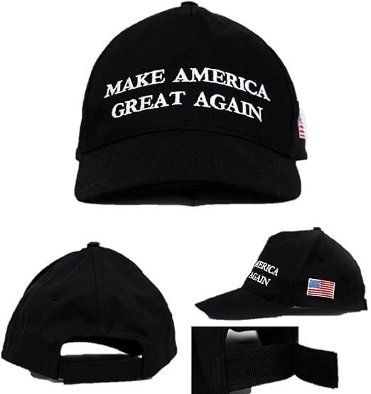 cff8d605fc8 AMRH- Make America Great Again Spirit Baseball Cap Hat American Flag  (Black