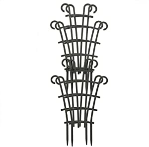 Redsa Garden Plant Climbing Trellis, Plastic Mini Superimposed Garden Plant Support, DIY Plant Stakes for Potted Plant (4pack)