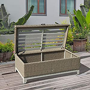 61n-fRObJuL._SS300_ Wicker Benches & Rattan Benches