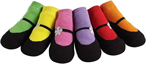Amazon Com Jazzytoes Bright Mary Janes Baby Socks Infant And Toddler Socks Clothing