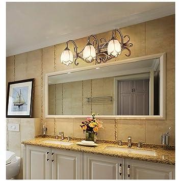 BCX Espejo Linterna Espejo Lámpara Frontal Cuarto de baño Led Espejo ...