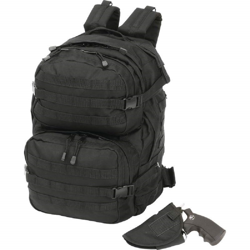 Extreme Pak™ Black Backpack with Concealed Handgun Holster