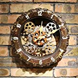 WJY Sweet Home European Creative Retro Stylish Wall Clocks For Home Bedroom Living Room Decorative Wall Clock Quartz Clock