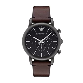 5ab0320cc0c Image Unavailable. Image not available for. Color  Emporio Armani Men s  AR1919 Dress Brown Leather Watch