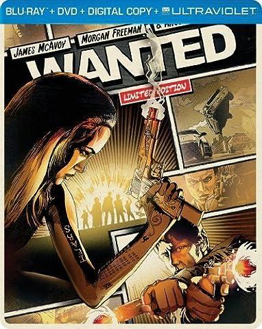 Wanted (Steelbook) (Blu-ray + DVD + DIGITAL with UltraViolet) by Universal Studios (Universal Studios Steelbook)