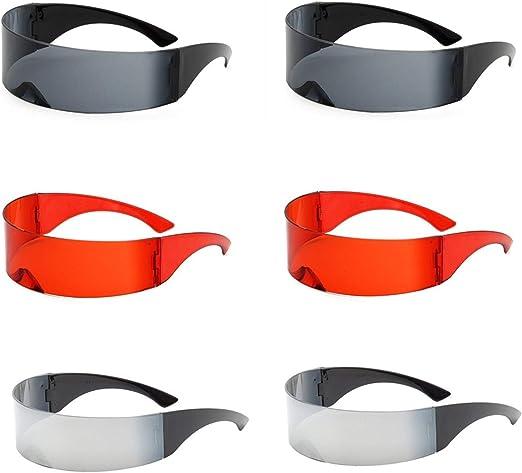 Ulalaza 6 Pares de Gafas de Sol con Escudo futurista Gafas de Ojo ...
