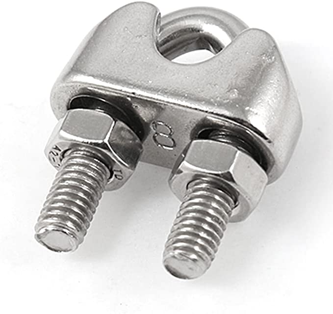 uxcell Silver Tone 10mm Stainless Steel Wire Rope Clip Cable Clamp