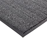 Notrax Vinyl 139 Boulevard Entrance Mat, for Upscale Entrances, 3' Width x 6' Length x 3/8'' Thickness, Charcoal