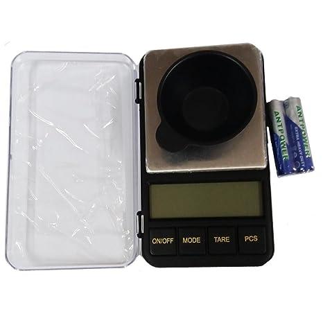 xuheng Mini báscula de bolsillo digital de alta precisión 500 gx0.01g portátil 500 g