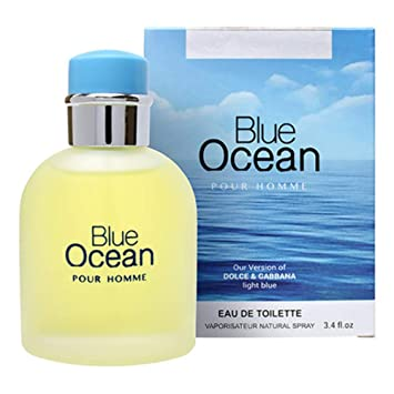 Blue Ocean Eau De Toilette Pefume for Men, 3.4 fl oz/100, Impression