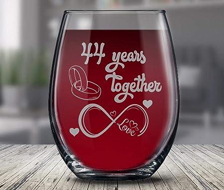 Anniversario Di Matrimonio Regali Per Lui.Calice Da Vino Per 44 Anniversario Di Matrimonio Regalo Per Lui