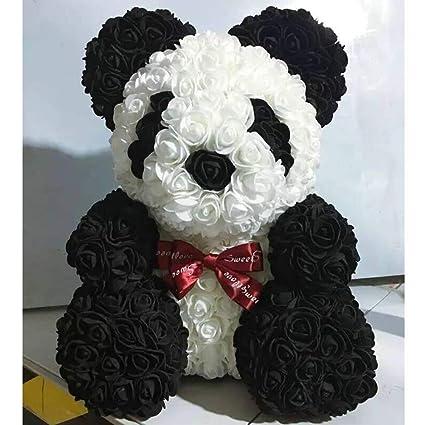 Amazon Com W Z Rose Panda Artificial Flower Hand Made Rose Panda
