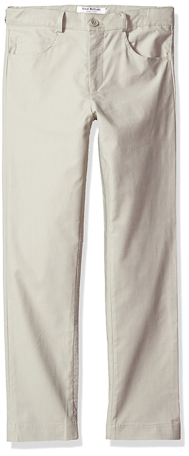 Isaac Mizrahi Boy's PT1055 Cotton Pants - Gray - 4