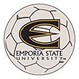 NCAA Emporia State University Hornets Soccer Ball Mat Round Area Rug