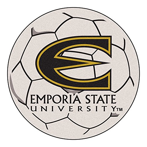 NCAA Emporia State University Hornets Soccer Ball Mat Round Area Rug by Unknown