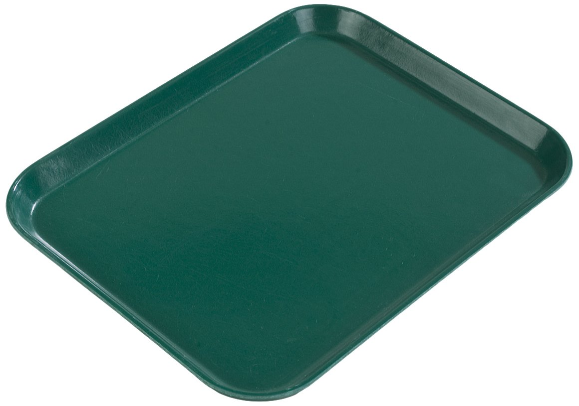 Carlisle 2015FG069 Fiberglass Glasteel Solid Rectangular Tray, 20.25'' x 15.00'', Raspberry (Case of 12)