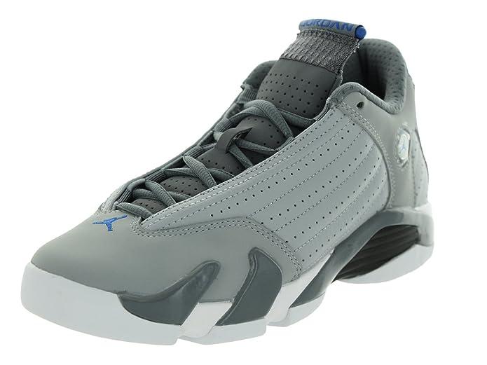 a78205127e7 Amazon.com: Air Jordan 14 Retro BG Big Kids Shoes Wolf Grey/Sport Blue-Clay  Grey-White 487524-004: Shoes