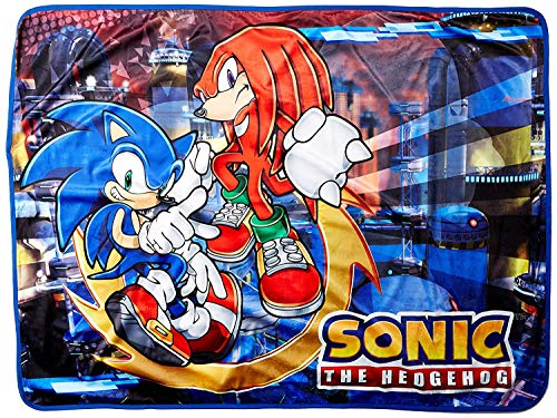 Great Eastern GE-57718 Sonic The Hedgehog Sonic and Knuckles Throw Blanket 46