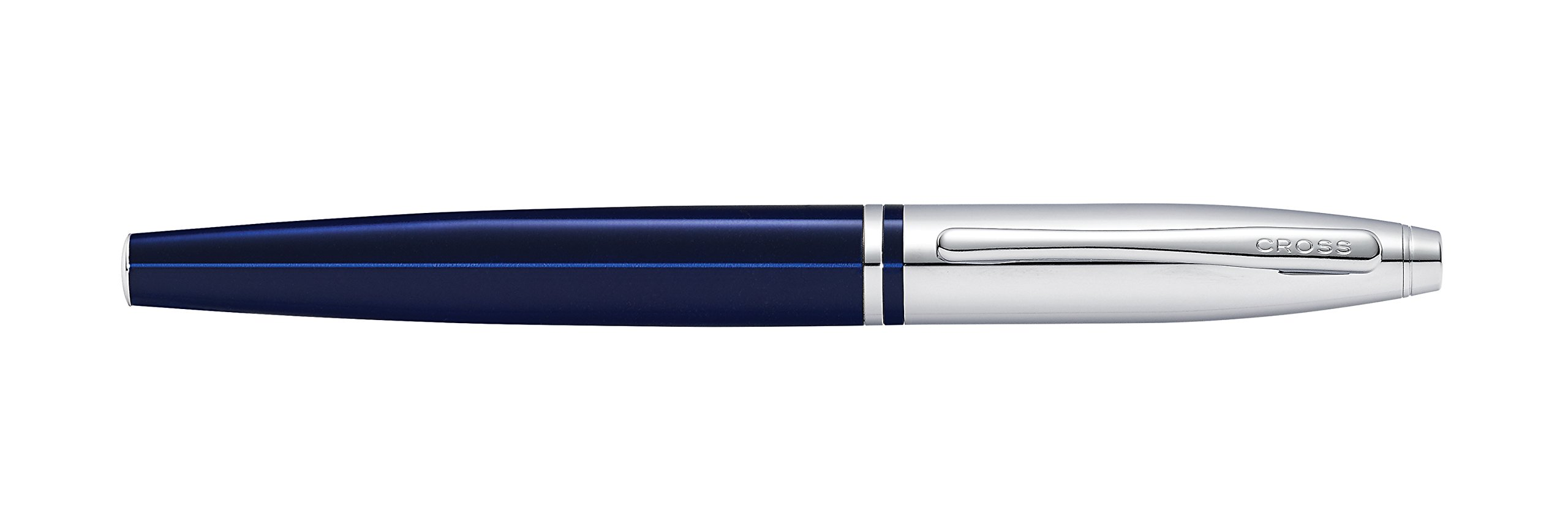 Engraved / Personalized Cross Calais 'Chrome/Blue Lacquer' Selectip Rollerball Pen with Gift Box - Custom Engraving AT0115-3 by Marketfair (Image #2)