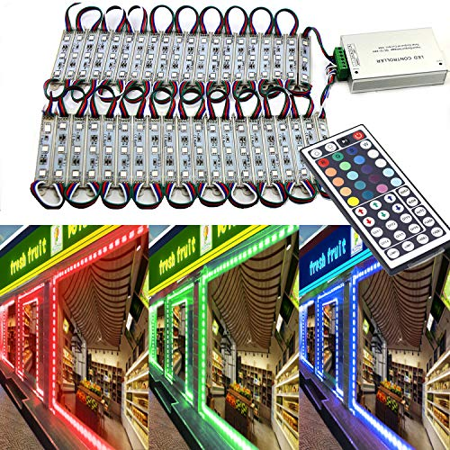 - EAGWELL 20 Ft Storefront Lights 40 Pieces RGB 5050 LED Light Module,2 Set 5050 SMD 120 LED Module Store Front Window Sign Strip Light