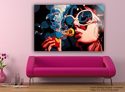 Tamatina Canvas Paintings - Bubbles - Andy Warhol - Modern Art ...