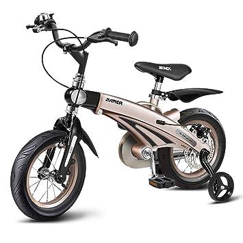 Huoduoduo Bicicleta, Bicicleta para Niños, 14 Pulgadas, Cuerpo De Aleación De Magnesio, Fácil De Instalar, Neumáticos Antideslizantes, Señal De Giro De ...