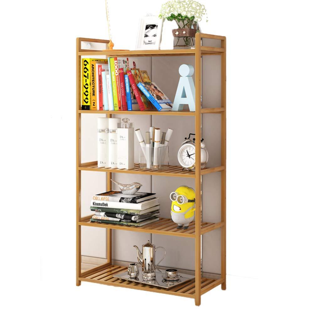 I 130x68x37cm(51x27x15inch) Small Bamboo Bookshelf,6-Tier Multipurpose Shelf Display Rack Thickened Storage Rack Floor-Standing Open Shelf for Records & Books-I 130x68x37cm(51x27x15inch)