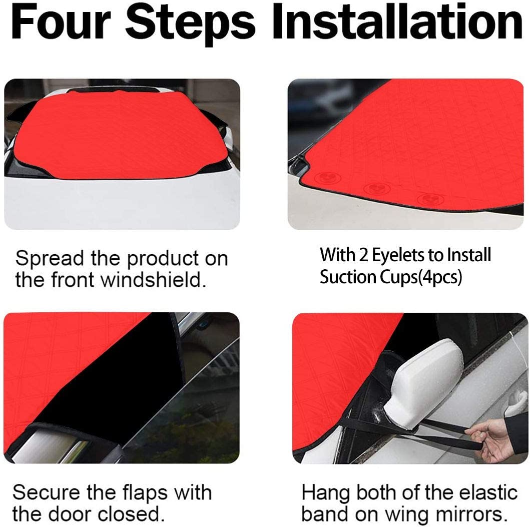 REECECAM Trouble MakerLooney Tunes Tasmanian Devil Taz Windshield Snow Cover No More Scraping Car Fits Most Car 57.9x46.5