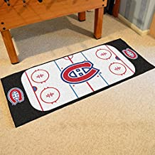 Fanmats Home Indoor sports Team Logo Montreal Canadiens Rink Runner Mat
