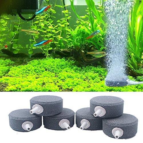 "(YOOPET 1.6"" Air Stone Mineral Bubble Diffusers Maker for Aquarium, Fish Tank, Pump and Hydroponics - 6PCS)"