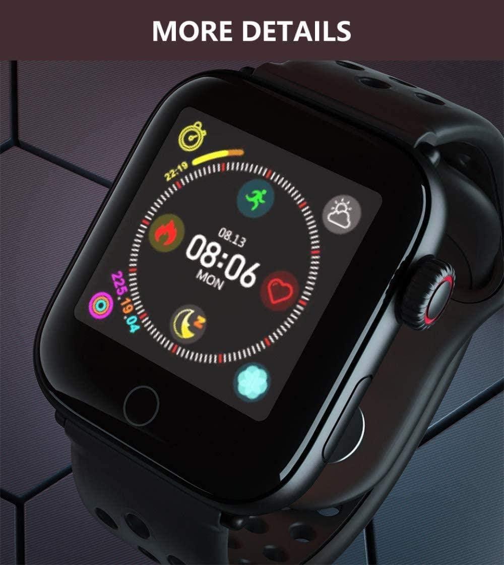 Orologio sportivo smart da uomo e donna con cardiofrequenzimetro, braccialetto intelligente IP68, impermeabile, pressione sanguigna, intelligente, colore: grigio Nero