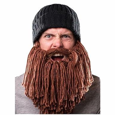 Naray Men Knit Viking Beard Mustache Hat Beanie at Amazon Men s Clothing  store  070577d456