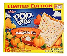 Kellogg\'s, Pop Tarts, Pumpkin Pie, Limited Edition, 16-Count, 28.2oz Box