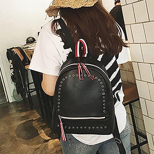 Kword Nuovo Fashion Design Donne Zaino in Pelle Zaini Zaini Viaggio Spalla Borsa Punk